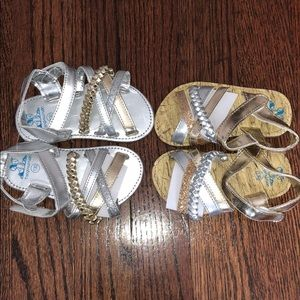 Other - NEW 2 pairs 9-12 month toddler sandals